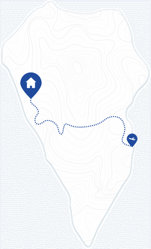 Sonniger Westen LaPalma Karte